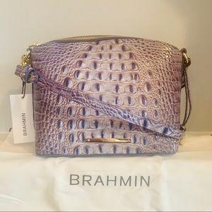 Brahmin Mini Duxbury Washed Indigo Melbourne Croc